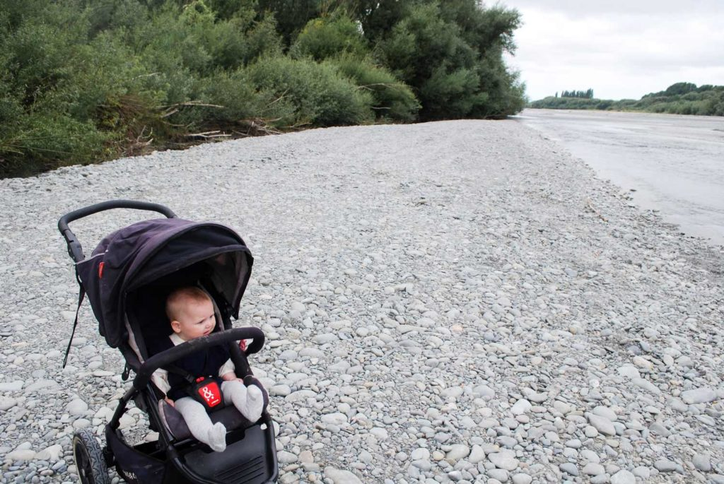 Stroller/Buggy friendly, the Ashburton River Trail is a great place to bring young children // Backyard Travel Family