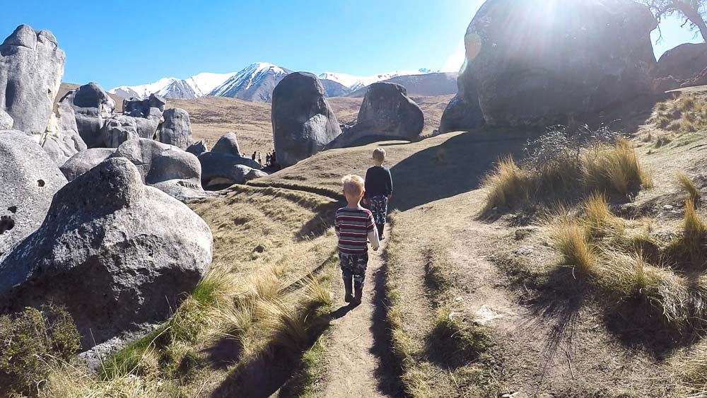 Explore Castle Hill and the Battle of Narnia in Arthurs Pass Canterbury and enjoy a great short walk with kids and family. Backyard Travel Family I New Zealand
