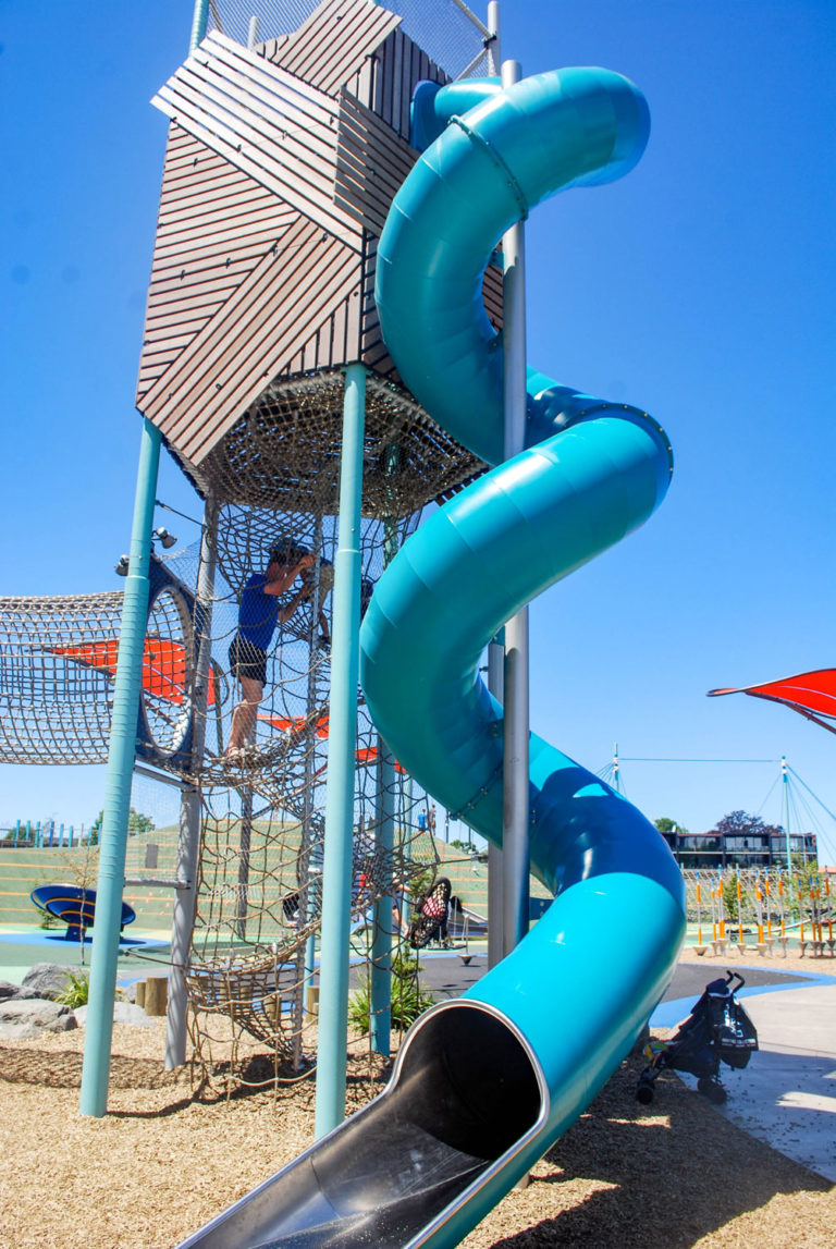 The Margaret Mahy Playground, largest in the Southern Hemisphere is a must visit in Christchurch, New Zealand // Backyard Travel Family