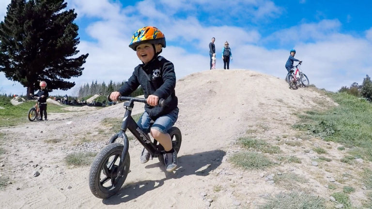 Excellent place for family walks and biking at Bottle Lake Forest, Christchurch, New Zealand // Backyard Travel Family