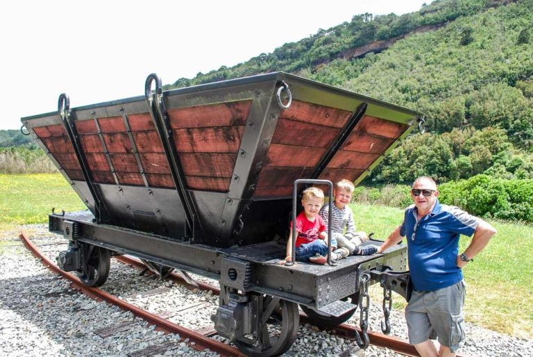 Finding old coal mining carts at Brunner Mine, West Coast, Canterbury, New Zealand I Backyard Travel Family