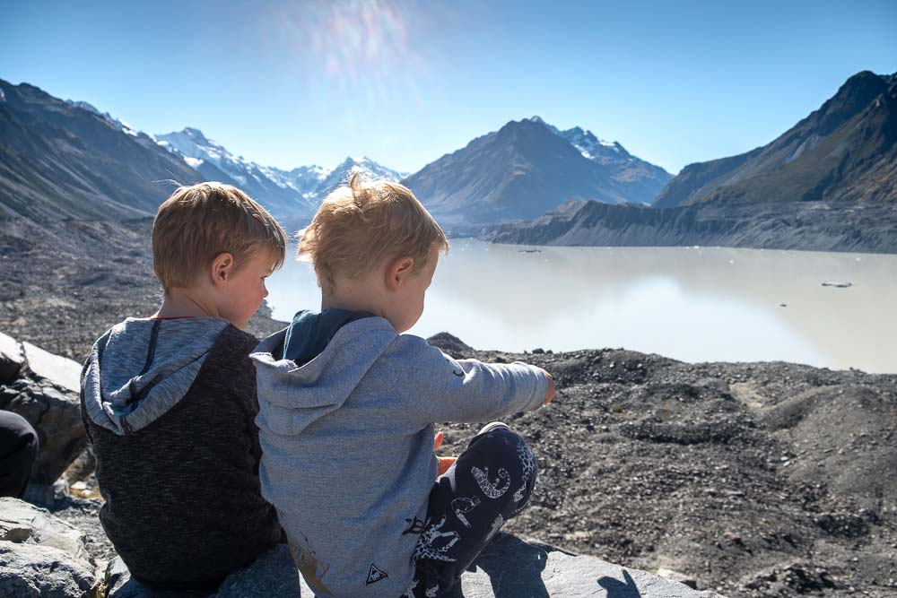 View from Tasman Glacier Viewpoint, Mt Cook National Park, Great short walk with kids by Backyard Travel Family