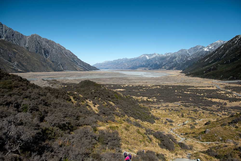 View from Tasman Glacier Viewpoint over Mt Cook National Park, Great short walk with kids by Backyard Travel Family