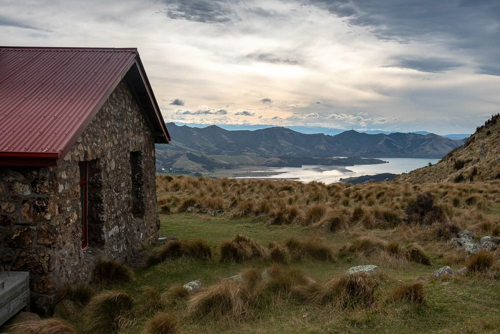 View of Packhorse Hut and Lyttelton Hut on the Gebbies Pass to Packhorse Hut track, Christchurch, New Zealand
