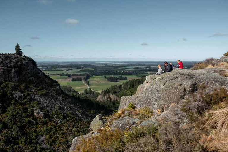View from Bluff Lookout from the Washpen Falls walking track, near Christchurch, Canterbury