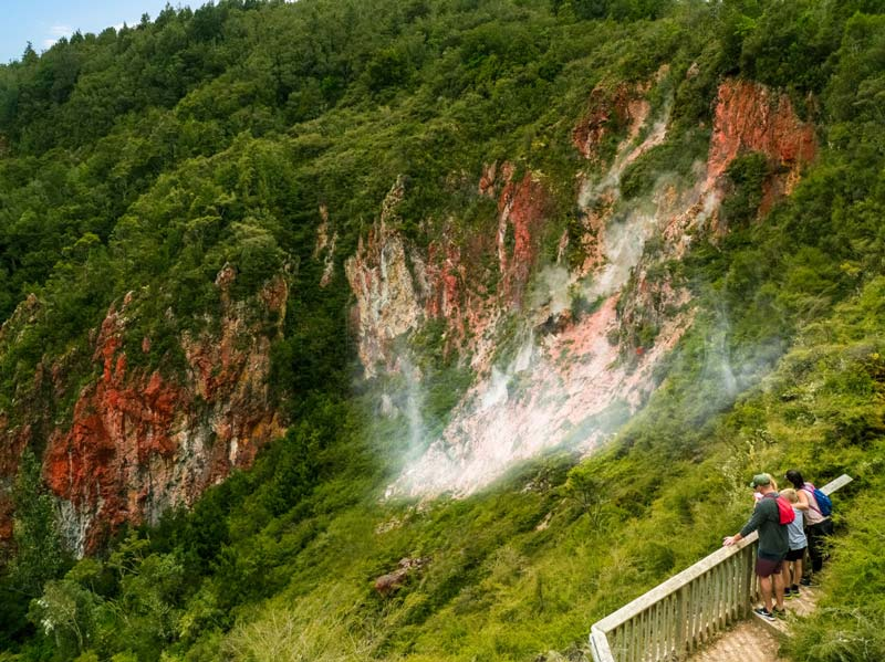 Checking out geothermal wonderlands is one of the best things to do in Rotorua with kids