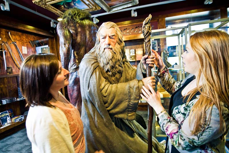 Statue of Gandalf at Wellington's Weta Cave; a highlight of your New Zealand North Island Itinerary