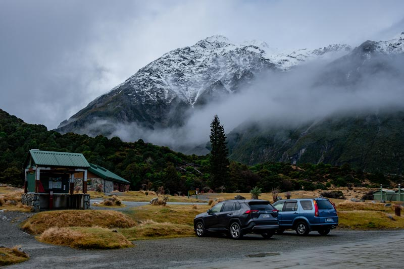 Start of the Hooker Valley Track and Kea Point Track, Aoraki Mt Cook National Park