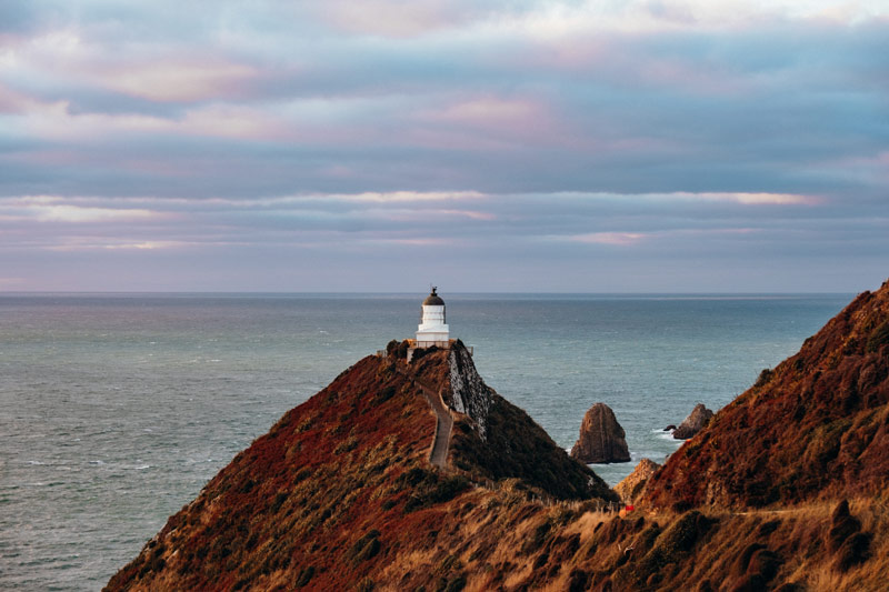 Nugget Point Lighthouse, one of the most popular things to do in the Catlins NZ
