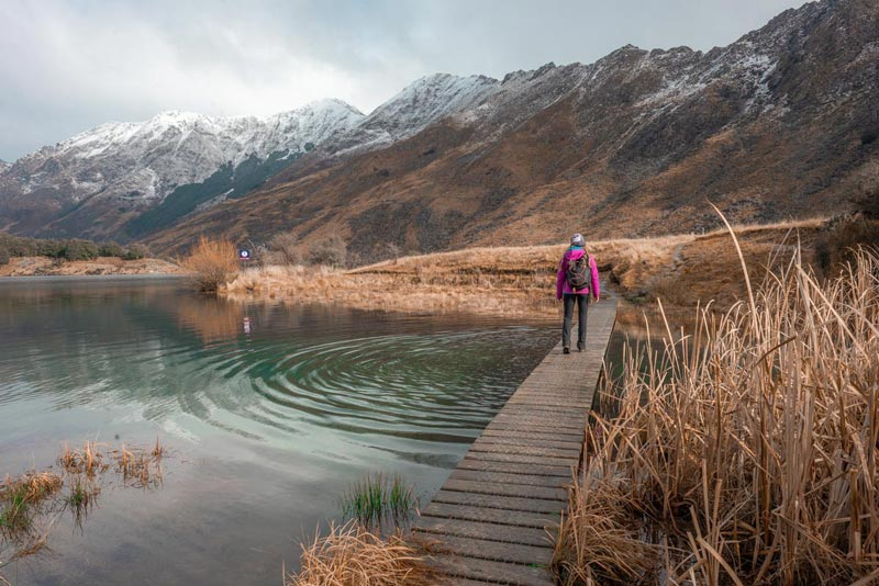 Moke Lake loop track, another good Queenstown Walk featuring a boardwalk over the lake