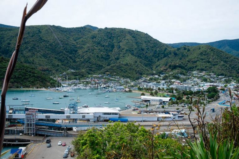 View over Picton township and Picton Harbour from Picton Lookout