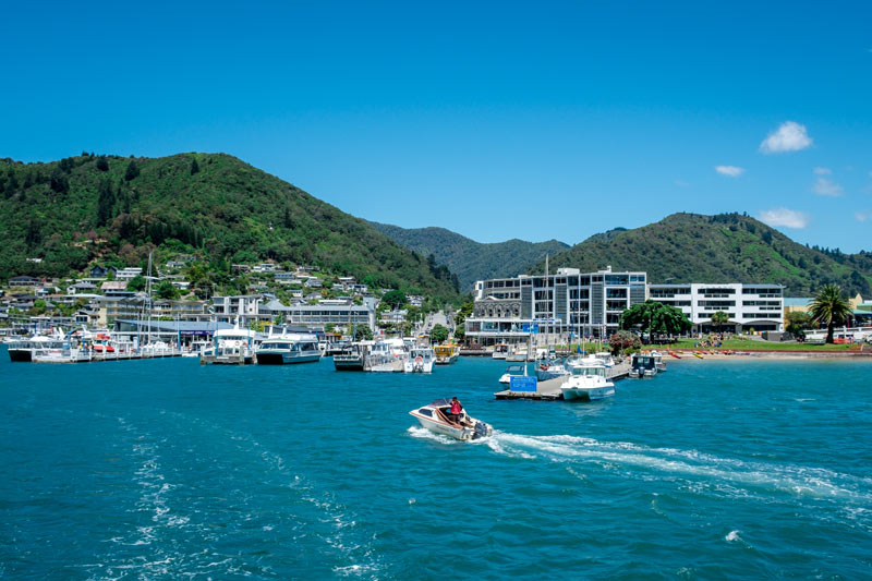 View of Picton Harbour from the Marlborough Sounds