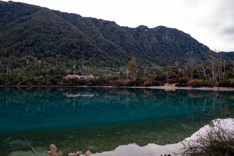 Clear blue green water at Bobs Cove Queenstown hike